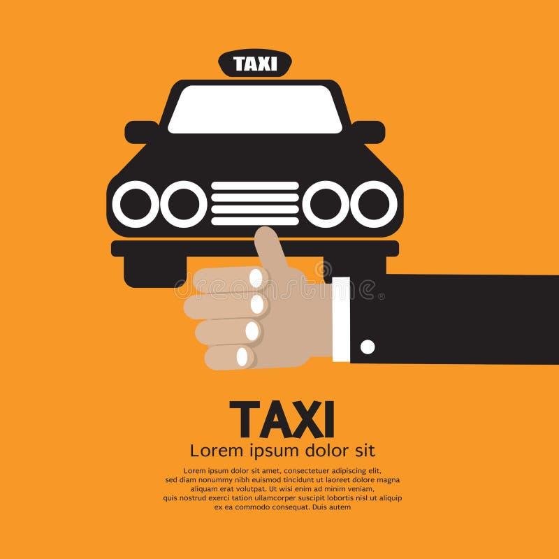 Flaga puszek taksówka ilustracji