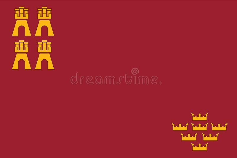 Flaga region Murcia ilustracja wektor