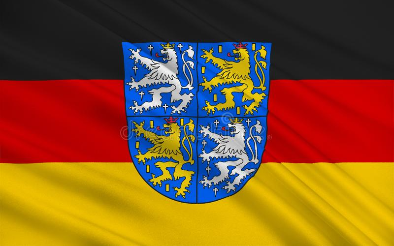 Flaga Regionalverband Saarbrucken, Niemcy obraz stock