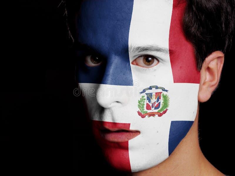 Flaga republika dominikańska obrazy royalty free