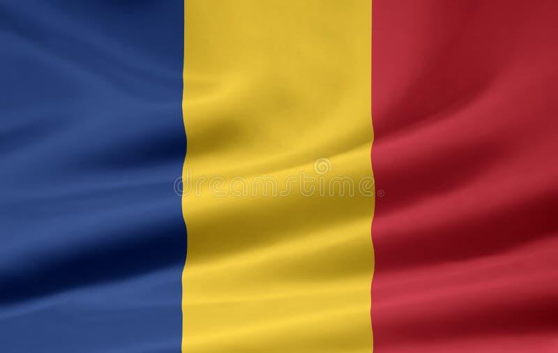 flaga Romania ilustracja wektor