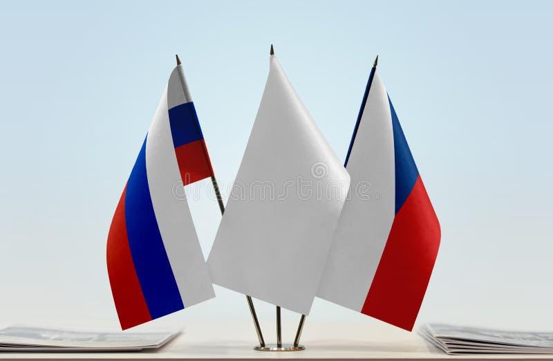 Flaga Rosja i republika czech fotografia royalty free