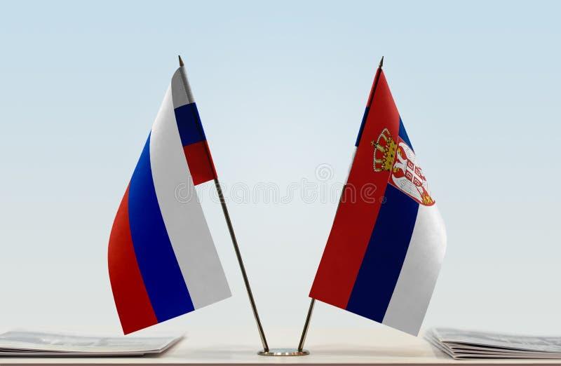 Flaga Rosja i Serbia obraz royalty free