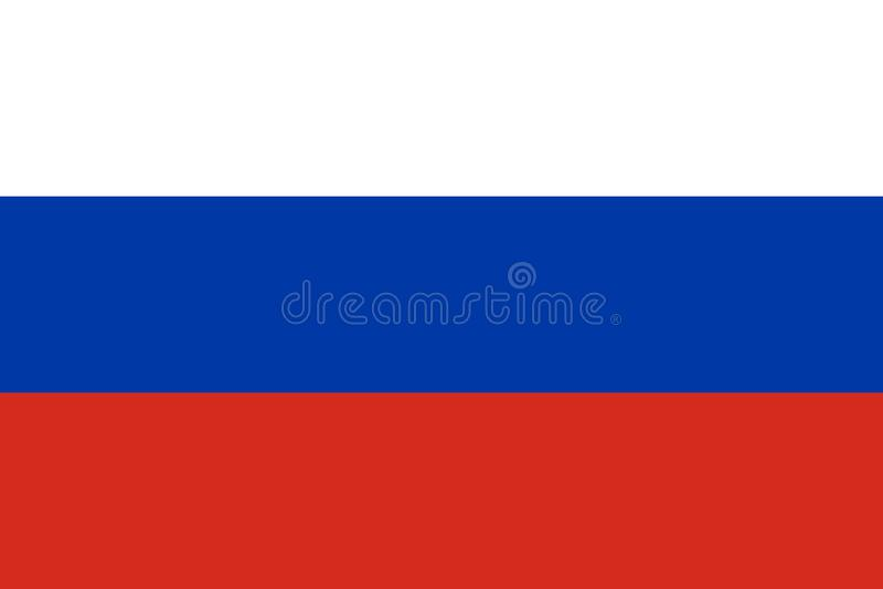 Flaga Rosja ilustracja fotografia stock