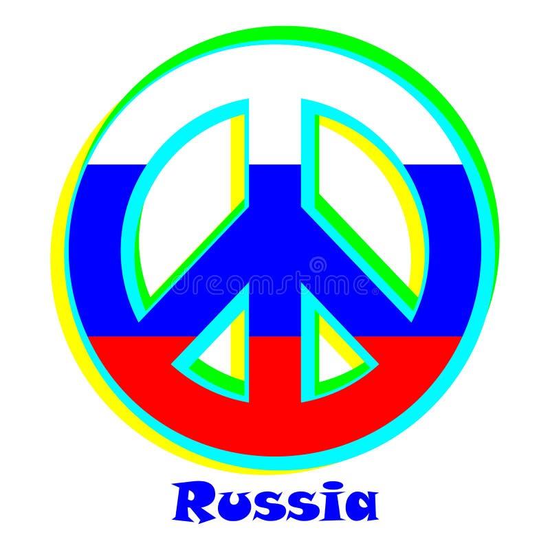 Flaga Rosja jako znak pacyfizm royalty ilustracja