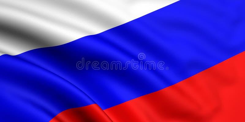 flaga Rosji ilustracja wektor