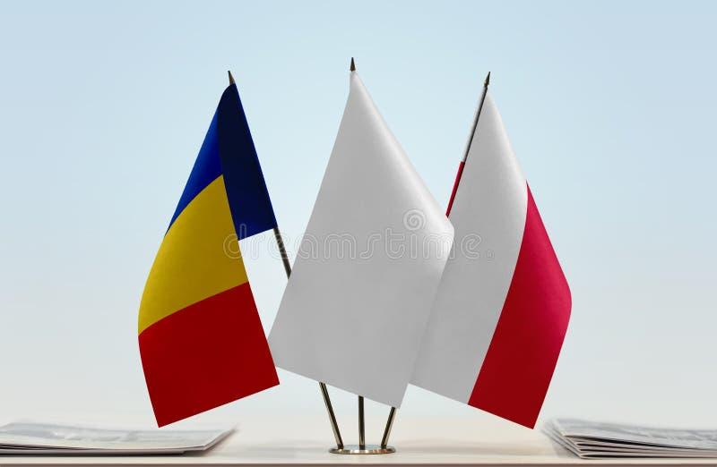 Flaga Rumunia i Polska obraz stock