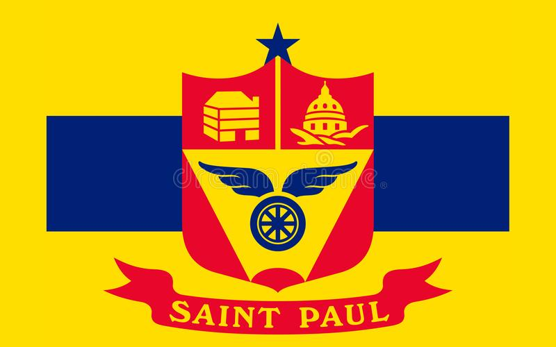 Flaga Saint Paul w Minnestoa, usa obrazy royalty free