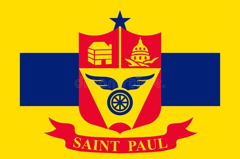 Flaga Saint Paul w Minnestoa, usa ilustracja wektor