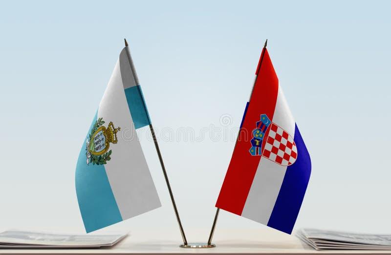Flaga San Marino i Chorwacja zdjęcia royalty free