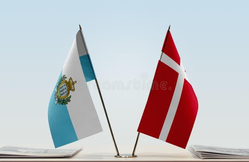 Flaga San Marino i Dani fotografia royalty free