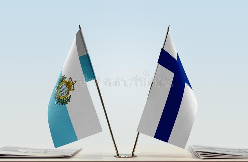 Flaga San Marino i Finlandia obraz royalty free