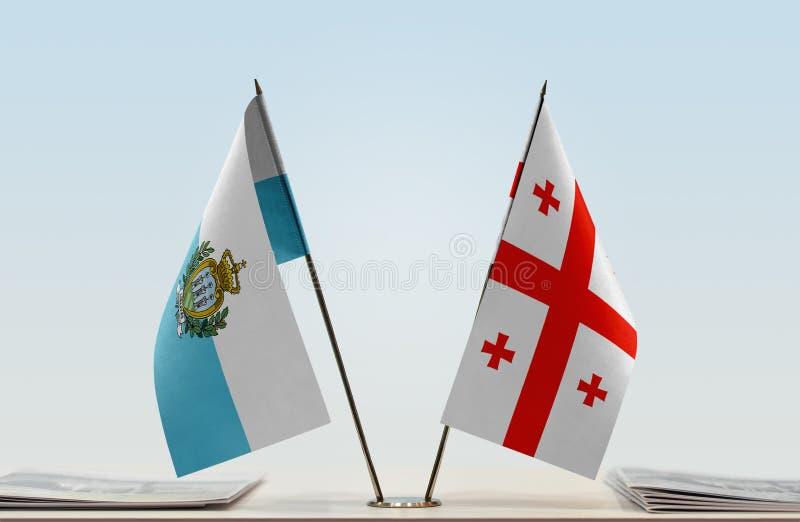 Flaga San Marino i Gruzja obrazy royalty free