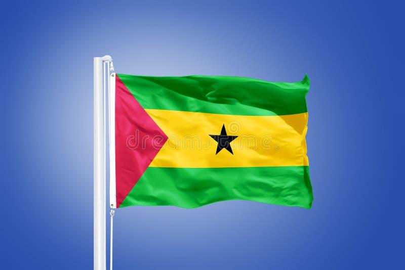 Flaga Sao Principe i woluminu latanie fotografia stock