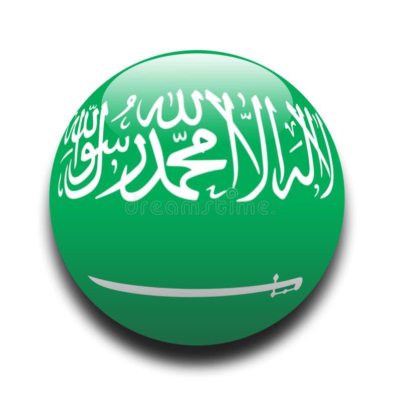 flaga saudyjczyk arabskiego royalty ilustracja