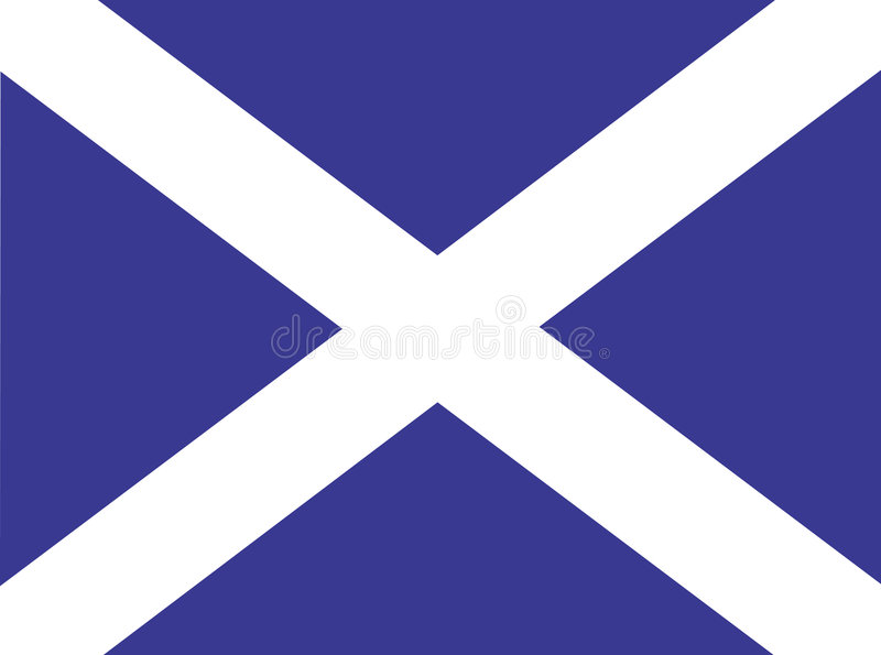 flaga Scotland royalty ilustracja