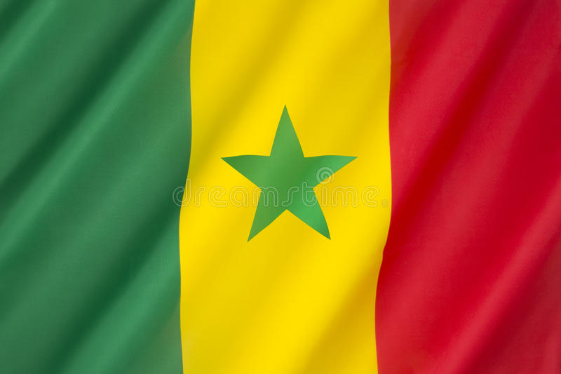 flaga Senegal fotografia stock