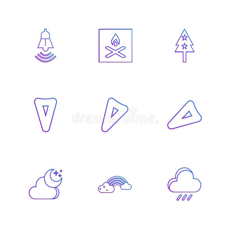 flaga, serca, kamera, pupil, flaga, eps ikony ustawiają vecto ilustracja wektor