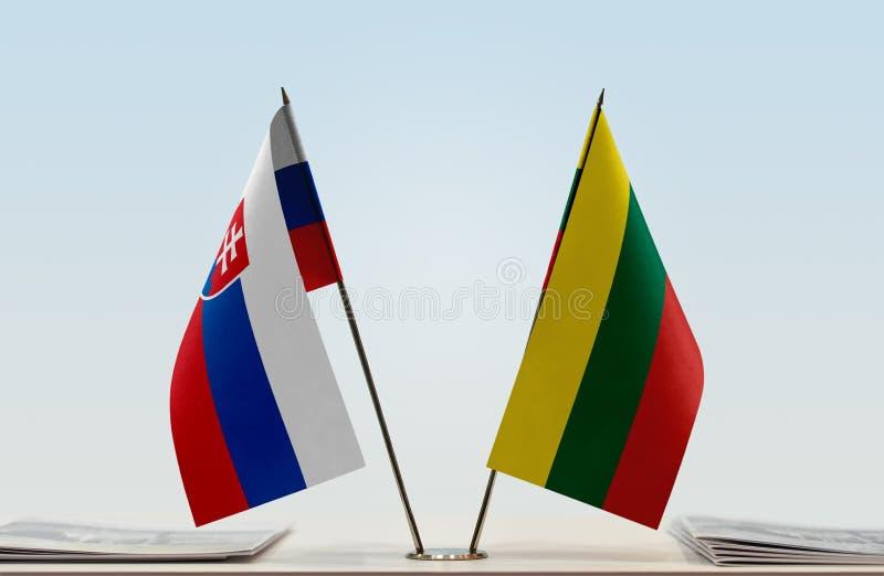 Flaga Sistani i Lithuania zdjęcia stock