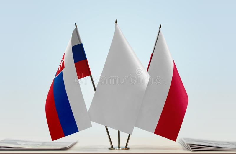 Flaga Sistani i Polska zdjęcia royalty free