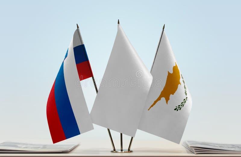 Flaga Slovenia i Cypr obraz stock