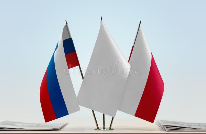 Flaga Slovenia i Polska zdjęcie royalty free