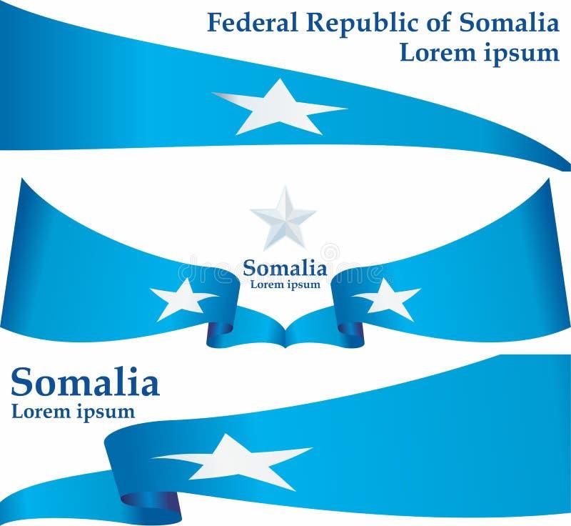 Flaga Somalia, Federacyjna republika Somalia Szablon dla nagroda projekta, urz?dowy dokument z flag? Somalia royalty ilustracja