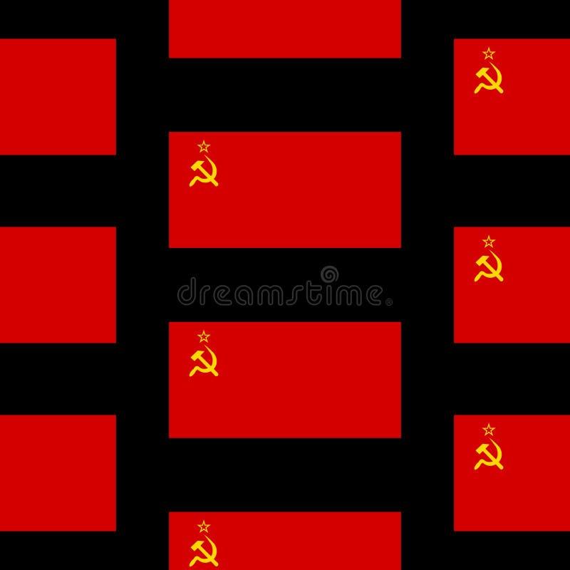 Flaga sowieci - zrzeszeniowy bezszwowy wzór ilustracji