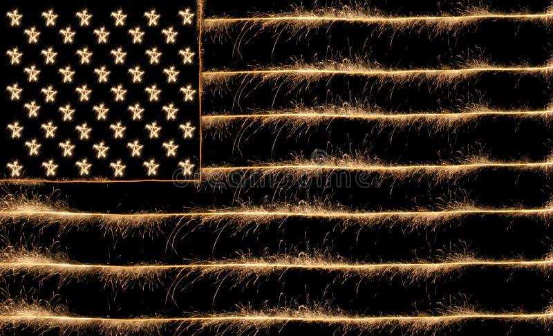 flaga sparkler usa zdjęcia royalty free