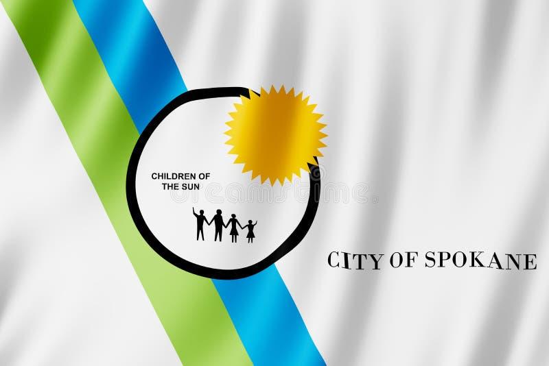 Flaga Spokane miasto, Waszyngton USA ilustracja wektor