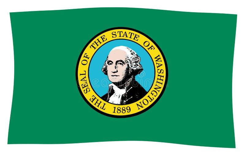 Flaga stan washington Machać ilustracji