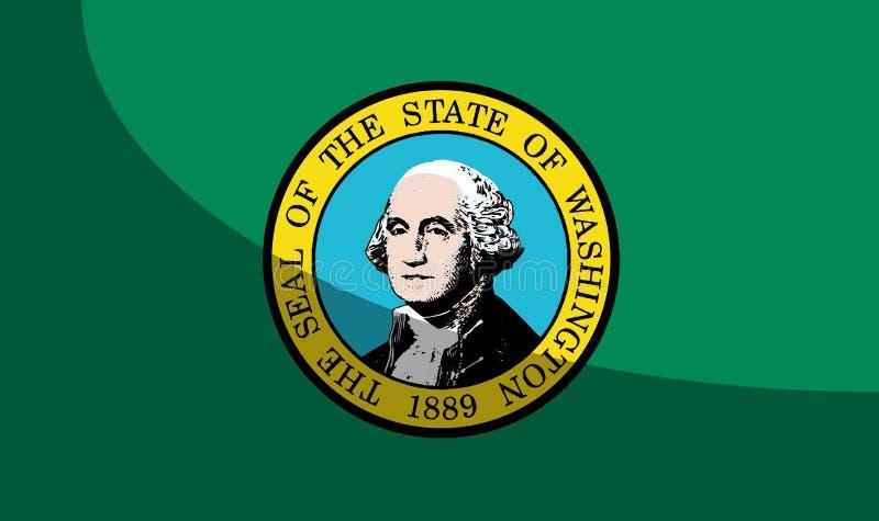 Flaga stan washington Z cieniem ilustracji