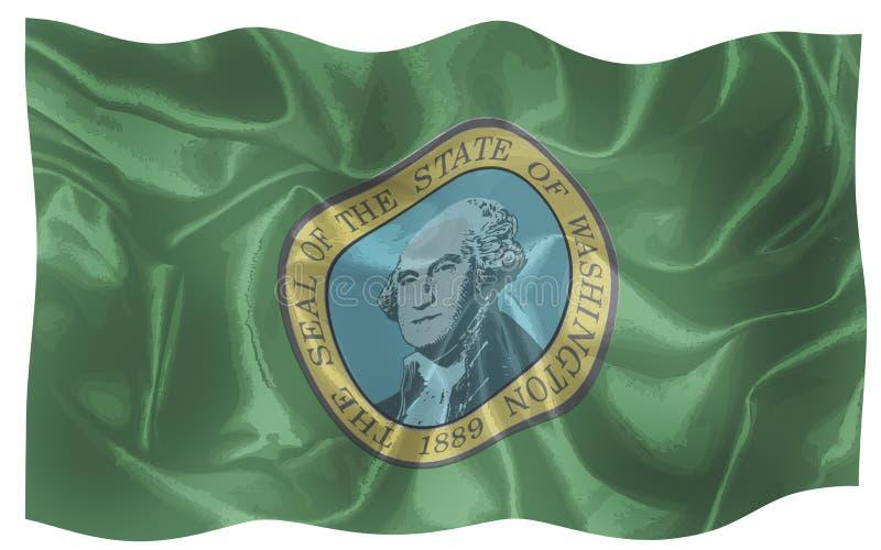 Flaga stan Waszyngton ilustracja wektor