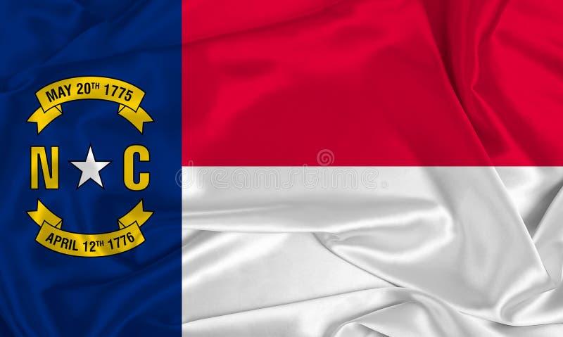 Flaga stanowa Jedwabnego Karoliny Północnej obrazy royalty free