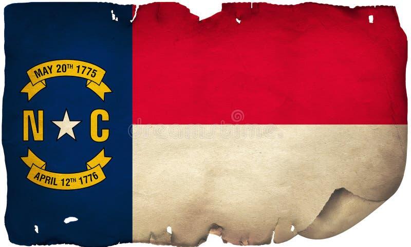 Flaga Stanowa Północnej Karoliny Na Starym Papierze zdjęcia royalty free