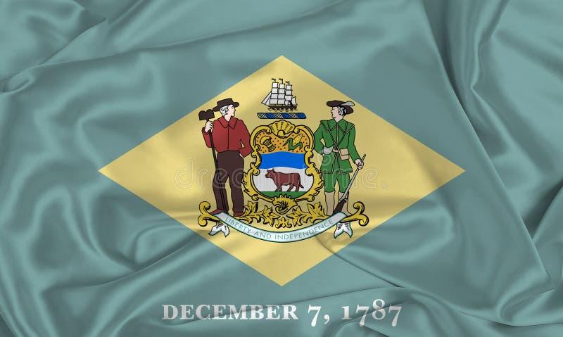 Flaga stanowa Silk Delaware obrazy royalty free