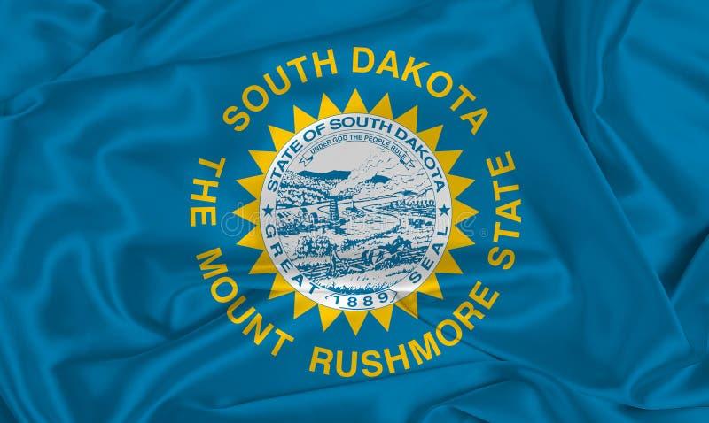 Flaga stanowa Silva South Dakota zdjęcie royalty free