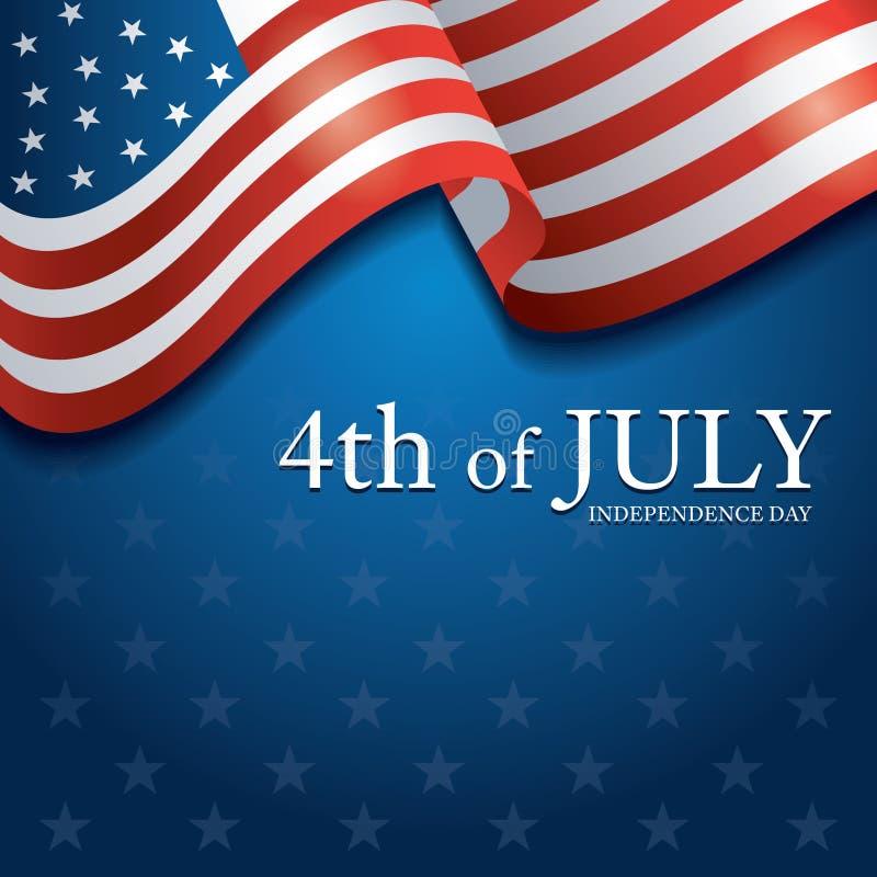 Flaga Stany Zjednoczone Ameryka 4th Lipiec t?o ilustracja wektor