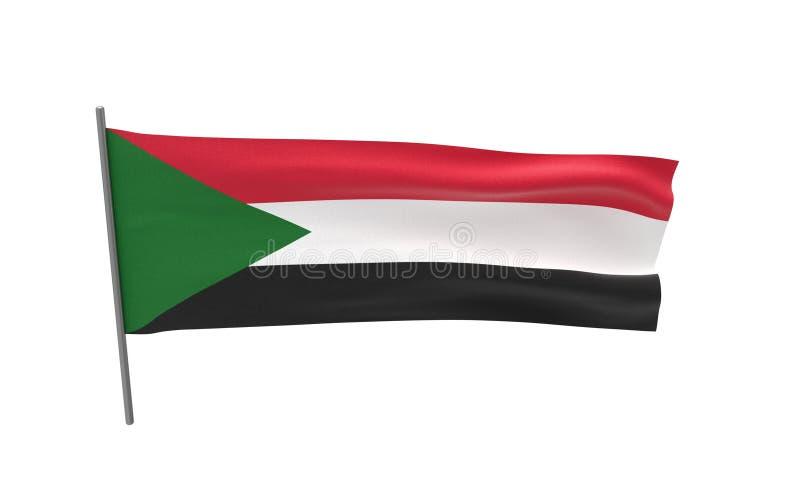Flaga Sudan zdjęcia stock