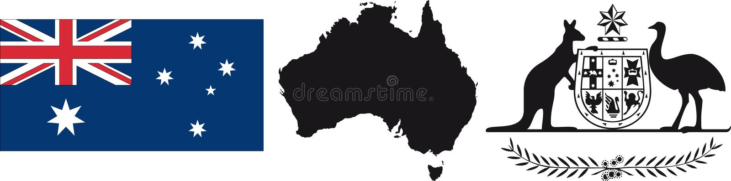 flaga symbol australii ilustracja wektor