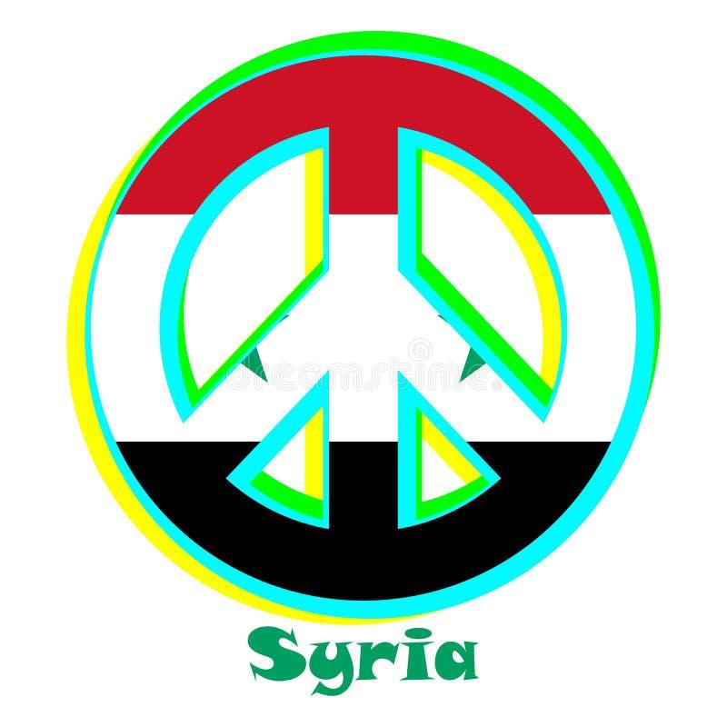 Flaga Syria jako znak pacyfizm ilustracji