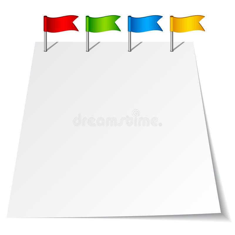 flaga szpilki pchnięcie ilustracja wektor