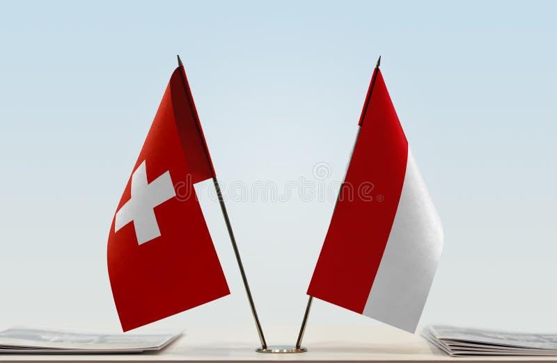 Flaga Szwajcaria i Monaco obrazy royalty free