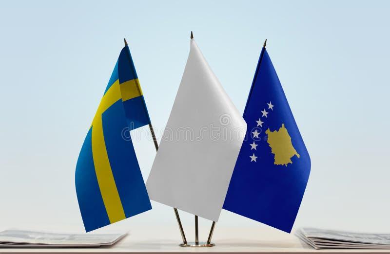 Flaga Szwecja i Kosowo obraz royalty free