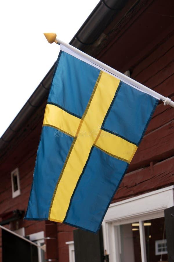 Flaga Szwecja na domu fotografia royalty free