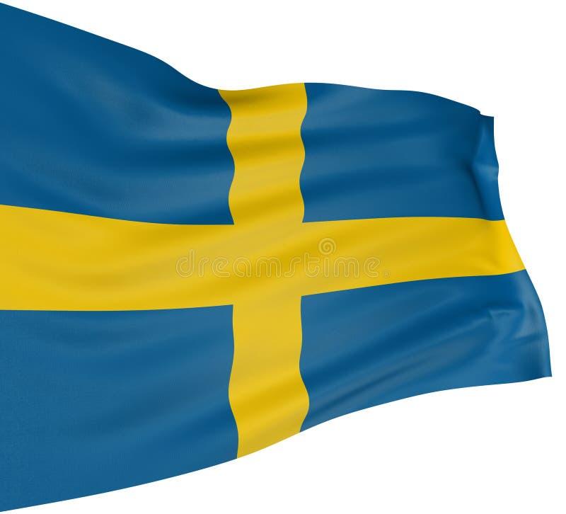 flaga szwedzi 3 d ilustracji