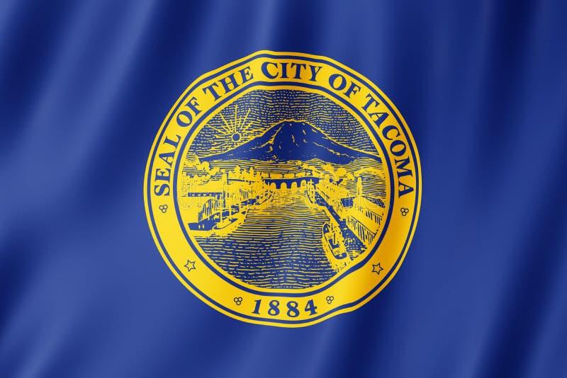 Flaga Tacoma miasto, Waszyngton USA royalty ilustracja