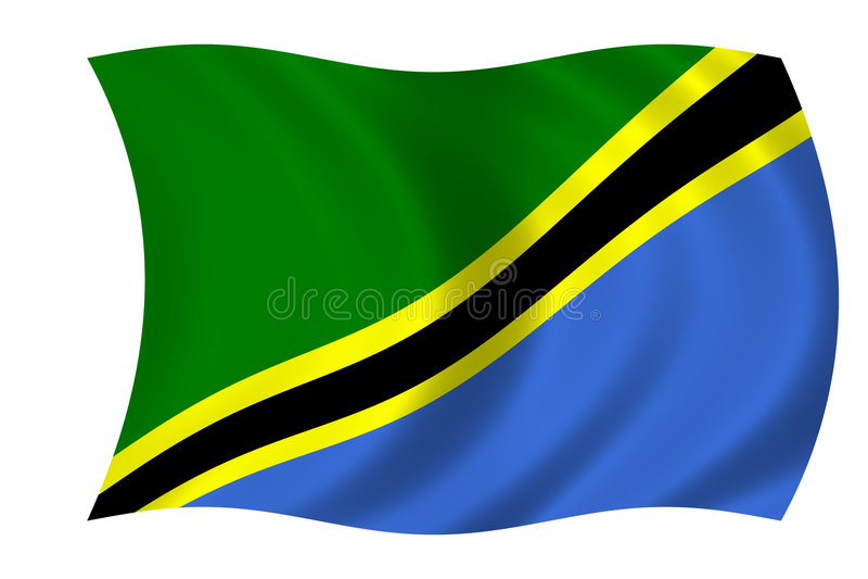 flaga Tanzanii ilustracja wektor