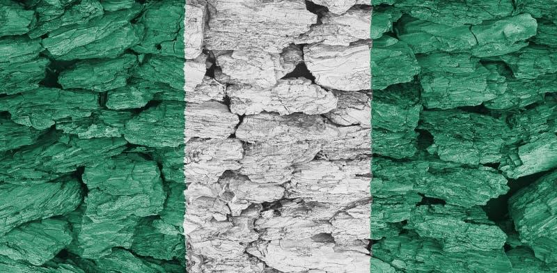 Flaga tekstura Nigeria zdjęcie royalty free