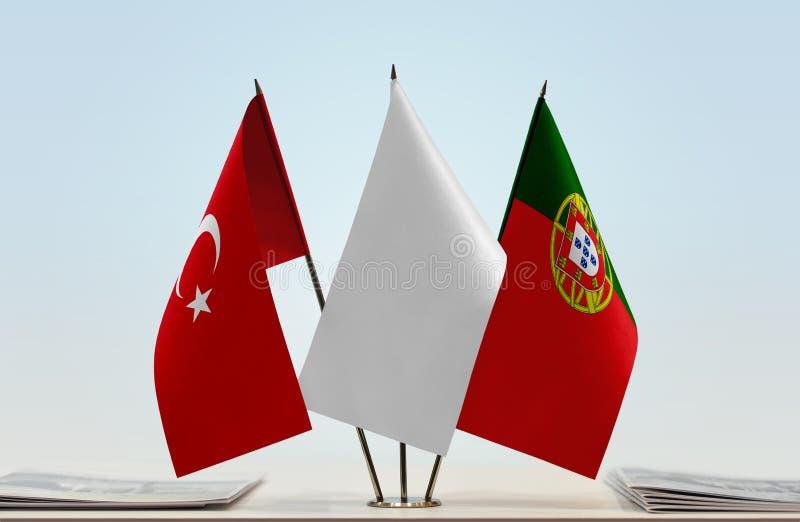 Flaga Turcja i Portugalia zdjęcia royalty free